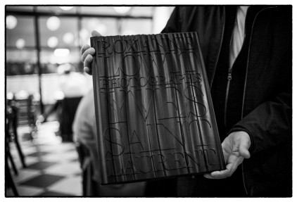 Roxanne Lowit and the limited edition version of her Yves Saint Laurent book // Thames & Hudson
